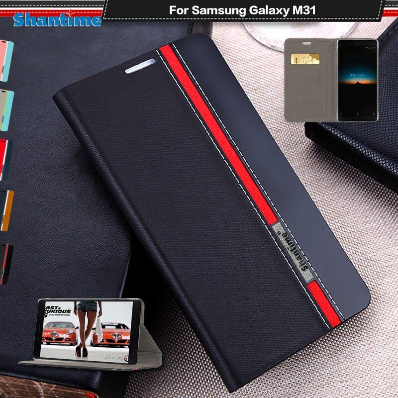 Роскошный чехол из искусственной кожи для Samsung Galaxy M31, флип чехол для Samsung Galaxy M31, чехол для телефона, мягкий силиконовый чехол из ТПУ|Чехлы-портмоне|   | АлиЭкспресс