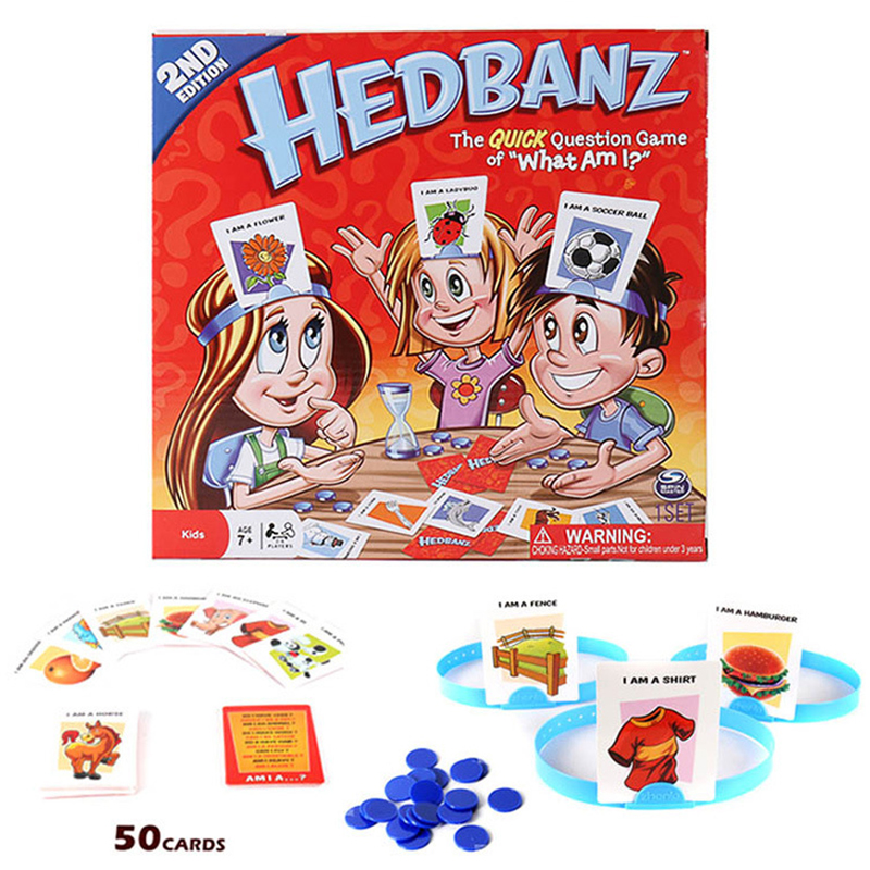 New Hedbanz Game The Quick Question of What am I Cards Board Game <font><b>Funny</b></font> <font><b>Gadgets</b></font> Novelty Toys Children parents party games image