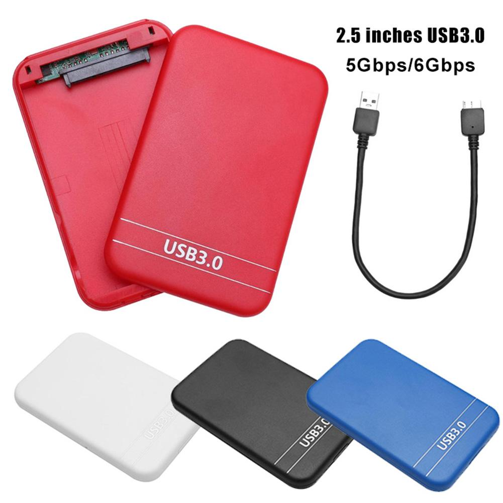 2.5 Hdd Case Usb 3.0 To SATA External Mobile Hard Disk Drive Enclosure Case Box For PC Black White Red Blue Docking Station