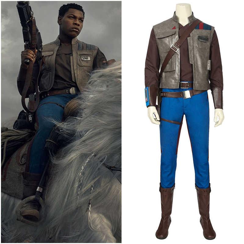 Movie Star Wars 9 Cosplay Costume The Rise Of Skywalker Finn Adult Halloween Party Boots Belt Holster Shirt Vest Custom Men Suit Aliexpress