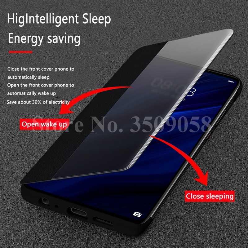 Di lusso Smart Clear View Caso di Vibrazione Per Huawei P30 Pro P 30Pro P30Pro Caso Protettivo di Cuoio Hauwei P 20 20Pro P20Pro Copertura