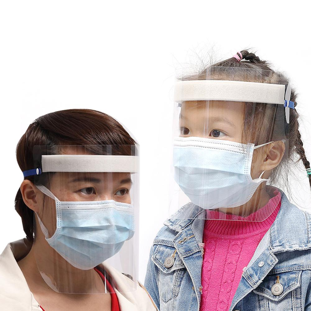 Kids Adults Protective Full Face Cover Mask Anti Splash Proof Visor Shield Anti-Saliva Breathable Face Mouth Masks