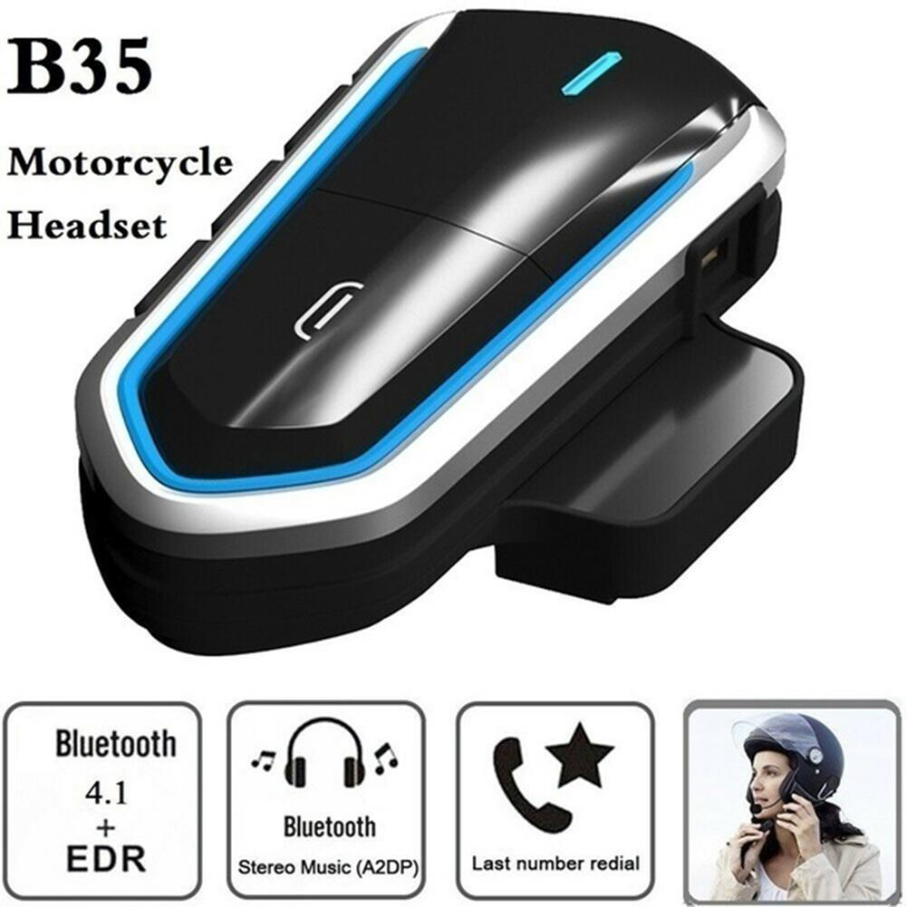 B35 Motorrad Helm Intercom Wireless Helm Bluetooth Headset Wasserdichte BT Sprech Intercomunicador FM