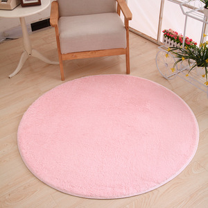 120 x 120cm Round Plush Carpet Soft Living Room Bedroom Rug Floor Mat Home Decor Short-haired Silky Plush Carpets Warm Mats(China)