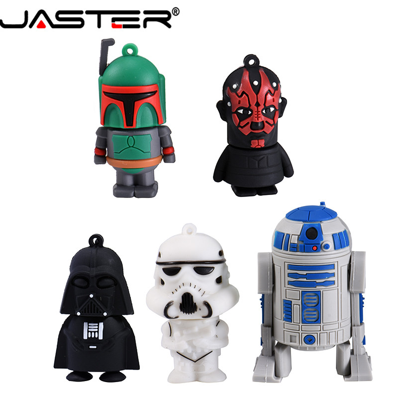 JASTER Usb 2.0 Cartoon Pendrive Star Wars Yoda/Darth Vader Usb Flash Drive 4GB 64GB 16GB 32GB Memoria Usb Gifts Clef Chiavetta