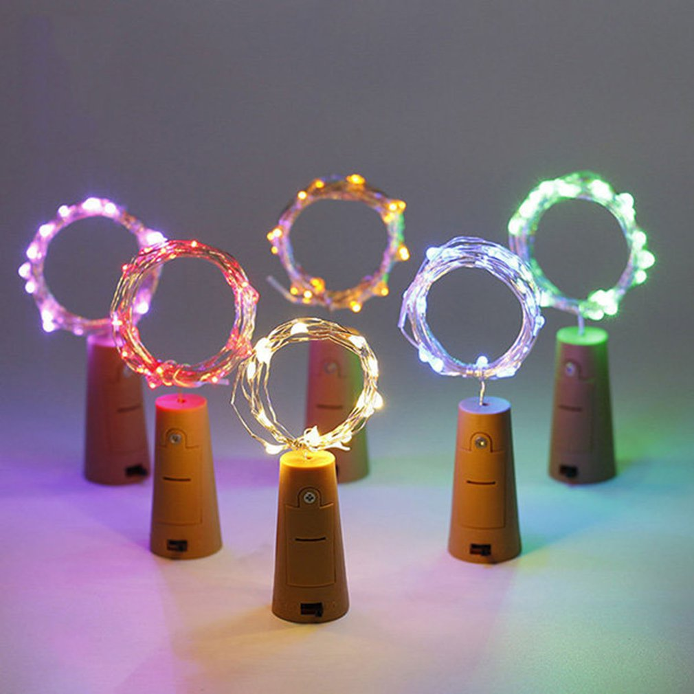 2M Cork Light Wine Bottle Stopper Light Christmas Lights Halloween Waterproof Holiday Atmosphere Copper Wire String Led