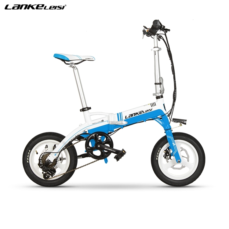 "A6 EU Quality Level 14"" inch portable Folding Electric Mini Bicycle Adjustable  for Cycling with LG Lithium Battery 1"