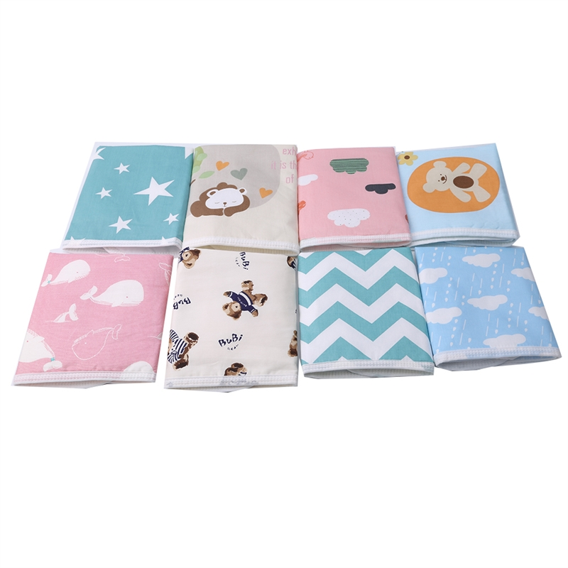Baby Changing Pad Baby Changing Mat Cartoon Cotton Blend Waterproof Sheet Table Diapers Urinal Game Play Cover Infant Mattress