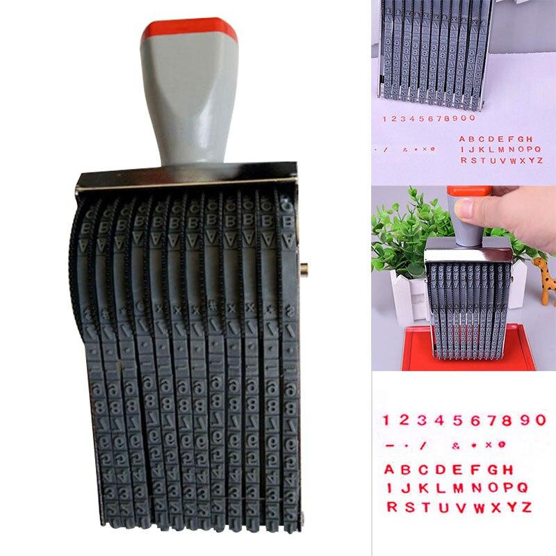 Multipurpose Rolling Stamp 8 Digits Letter Number Emboss DIY Stamper QJY99