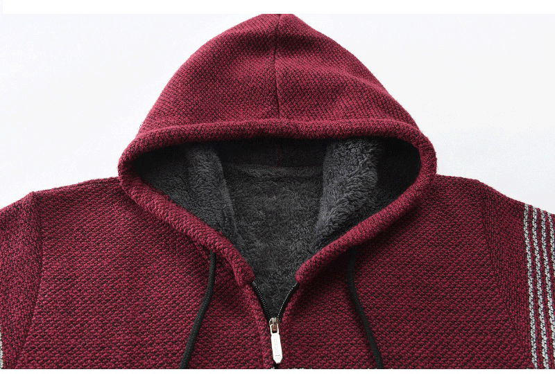 Thick Warm Hooded Cardigan Sweater 21