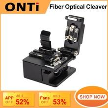 ONTi Fiber Cleaver Optical Fusion Cable Cutting Knife FTTH Single Mode Metal Fiber Optic Tools Cutter High Precision Cleaver