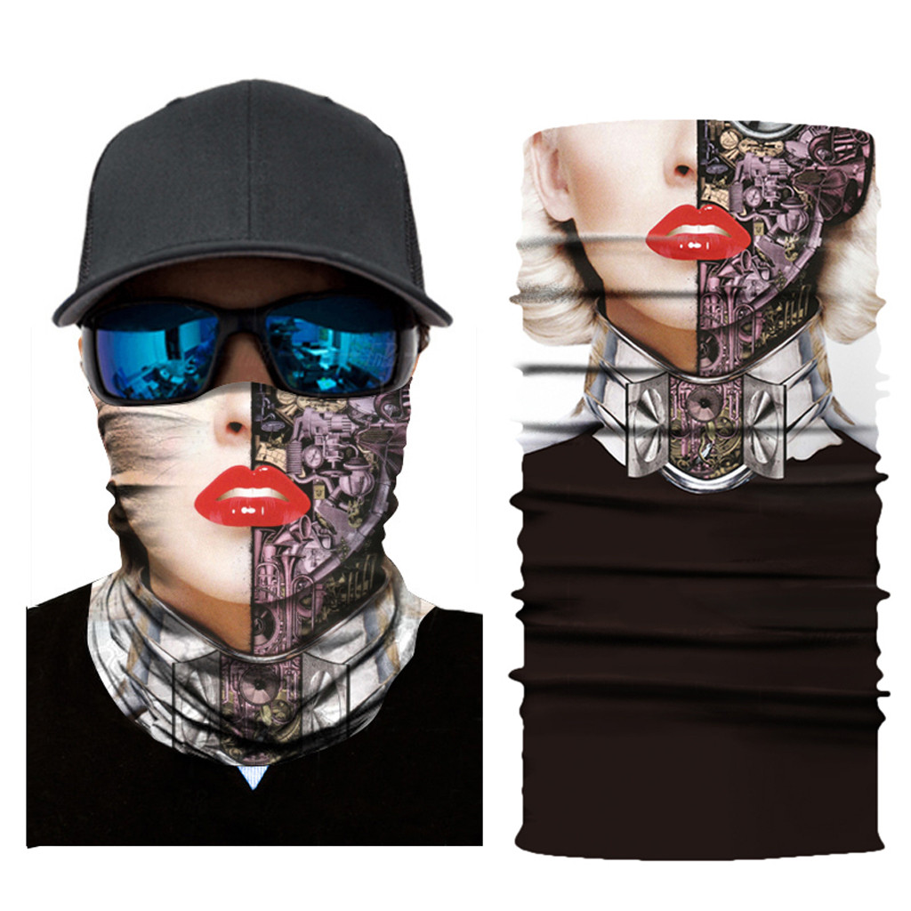 <font><b>Sexy</b></font> Lips Mouth Face Cover Ears Protection Gothic Headband <font><b>Halloween</b></font> Headwear Xmas Party Cosplay hair accessories for Women Men image