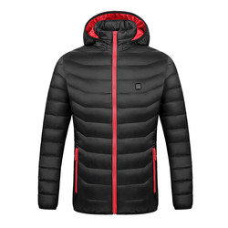 2020 Winter Women's Men's Jacket Casual Outerwear Smart USB Abdominal Back Electric Heating Warm Cotton Jacket casaco masculino