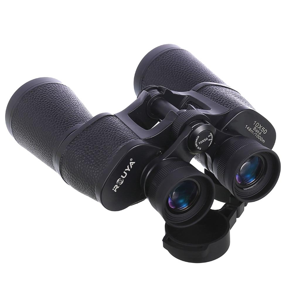 Full metal Hunting binoculars 10x50 Telescope bak4 Night Vision Nitrogen waterproof High power high definition eyepiece Rouya in Monocular Binoculars from Sports Entertainment