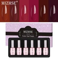 MIZHSE ג ל פולני סט UV Vernis חצי קבוע ג ל לק ג ל לכה לספוג את צבע Gel לכה אריזת מתנה סלון טיפים