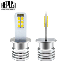 2x H3 Led Fog Lamp Bulb Auto Car Motor Truck 12w high power LED Bulbs Driving Running Light DRL 12V 24V White H3 LED Car Light стоимость