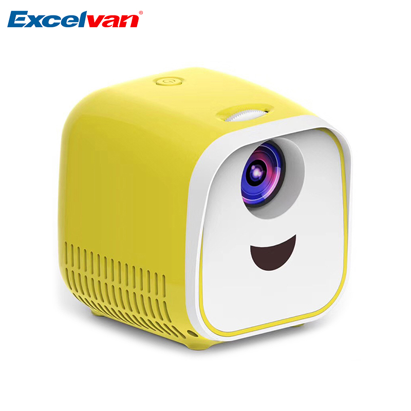 Excelvan L1 Mini Portable Projector 1000 Lumens Home Theater Support Full HD 1080P HDMI USB Mini Beamer Home Media Player