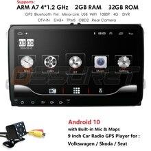 """Android 10 9"""" 2din Car DVD for POLO GOLF 5 6 POLO PASSAT B6 CC TIGUAN TOURAN EOS SHARAN SCIROCCO CADDY with GPS Nav audio Cam in"""