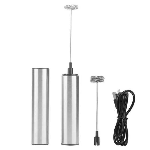 Фото электрический капучинатор для молока с usb зарядкой ручной миксер