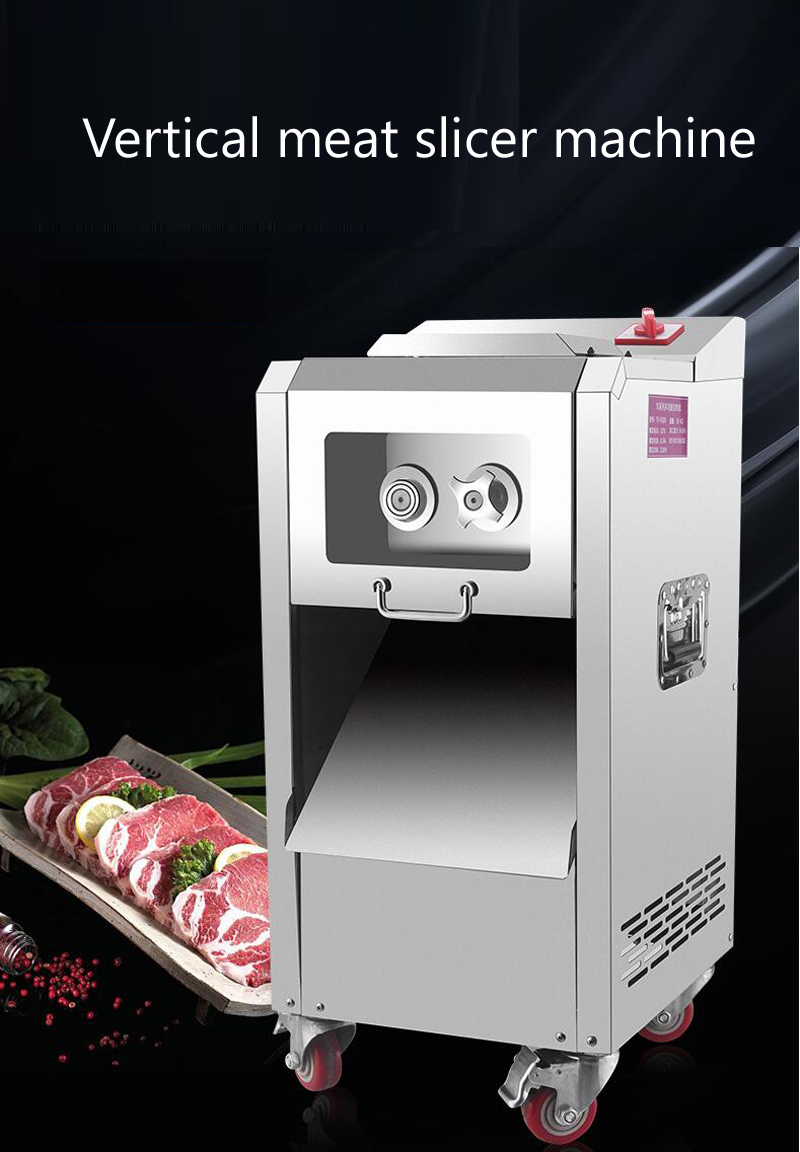 2200 Вт электрическая нержавеющая сталь Мясорубка Коммерческая вертикальная машина для резки мяса