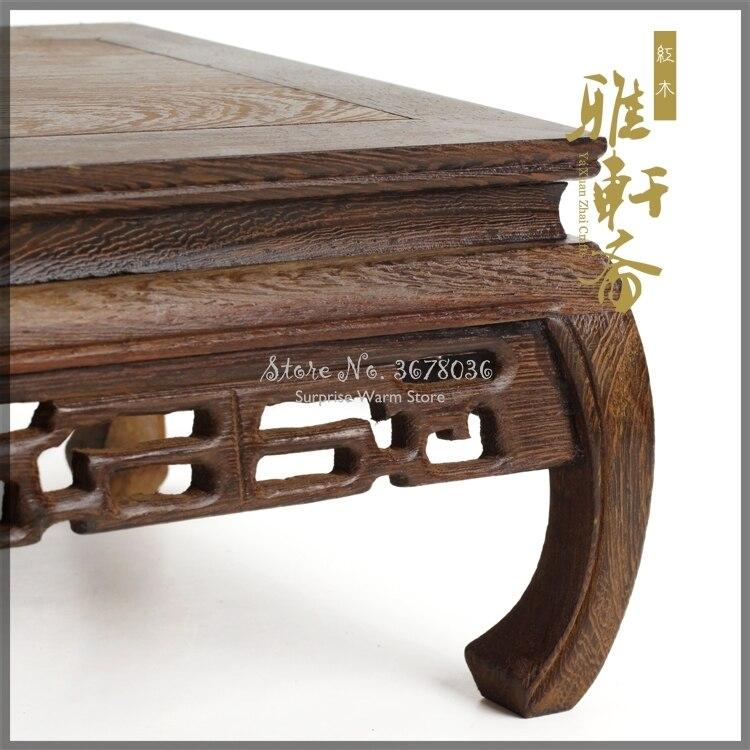 Solid Wood Tea Table Rosewood Carving Decoration Base Vase Buddha Kistler Display Rack Multi-use Rectangle Small Coffee Table