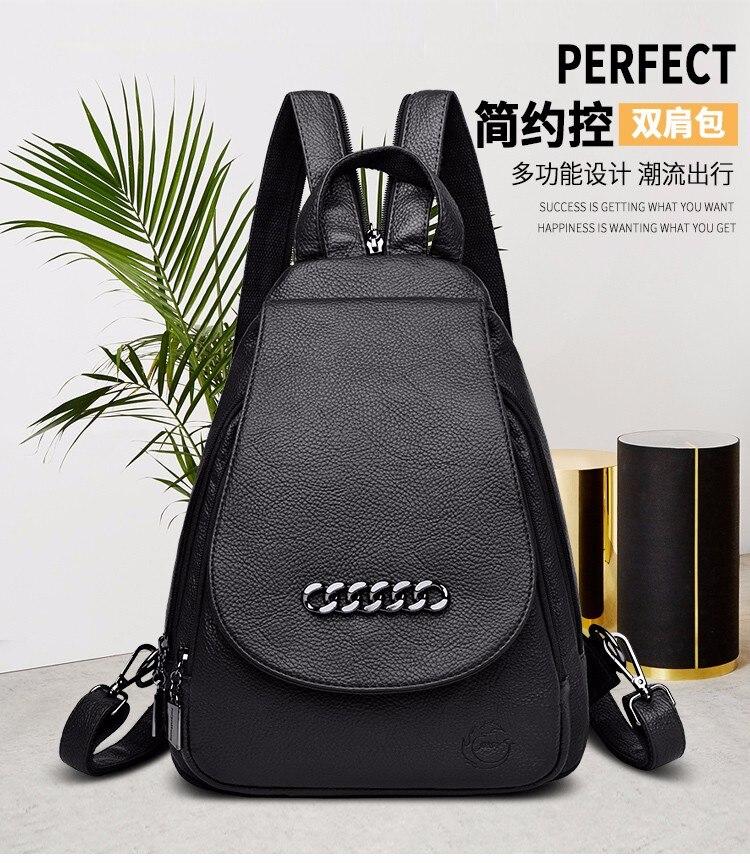 Fashionable female backpack high quality youth leather backpack for teenage girls shoulder bag back pack leather backpack