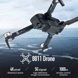 Image 2 - 2019 New RC Drone 8811 GPS 5G Quadcopter with Wide Angle GPS 4K Camera Drone Gesture Foldable Optical Flow Dron Helicopter Toys