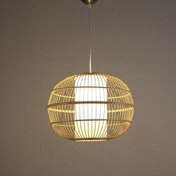 Nowy chiński styl Rattan wisząca lampa w stylu vintage wiszące lampy E27 salon jadalnia Home Decor Cafe restauracja Hanglamp