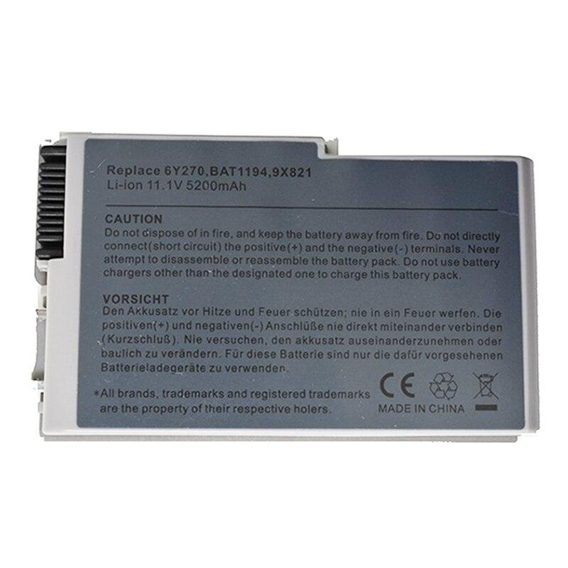 GZSM Laptop Battery D500 For Dell 510 600M D505 Battery For Laptop D510 D520 D610 D600 D530 6Y270 U1544 310-5195 Laptop  Charger