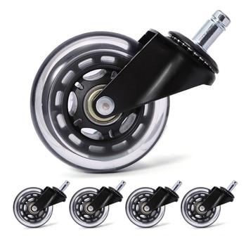 5 peças rodas rodízio cadeira de escritório 3 Polegada giratória rodízio resistente rodas substituição macio seguro rolos móveis ferragem