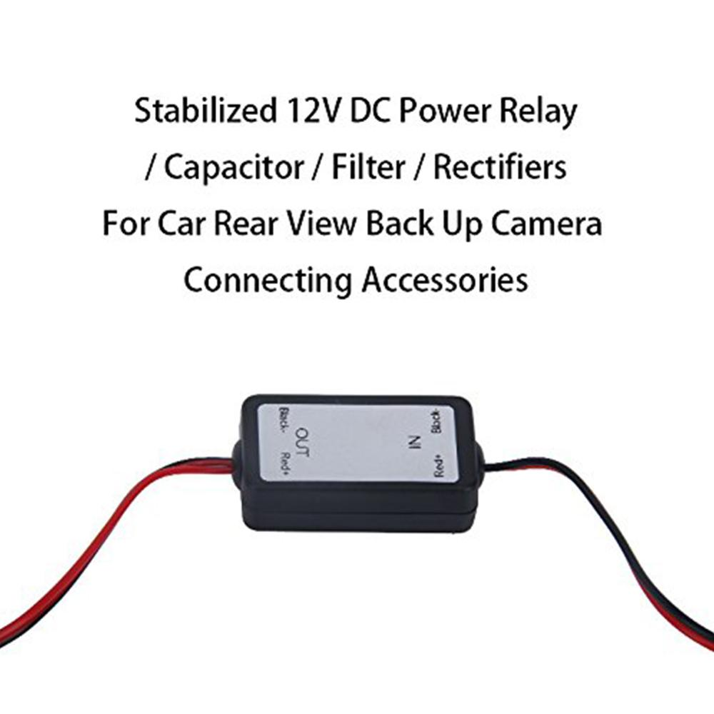 12V DC Power Relay Capacitor Filter Rectifiers for Car Rear View Back Up Camera