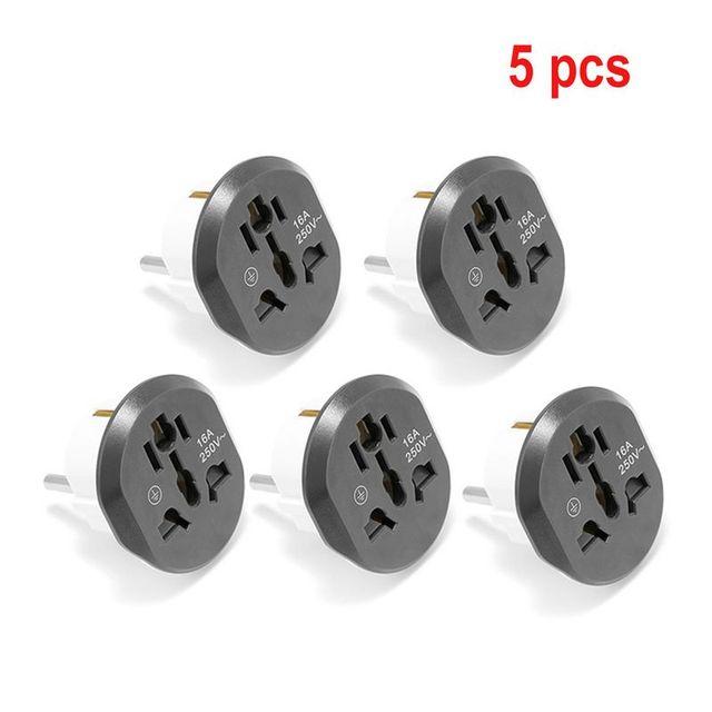 Universal EU Stecker Konverter EU Adapter 2 Runde Pin Buchse AU US UK CN Zu EU Steckdose AC 16A 250V Reise Adapter Hohe Qualität