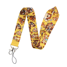 K2058 Squirrel Lanyard Cute Animal Keychain Lanyards for Keys Badge ID Mobile Phone Rope Neck Straps Accessories Gifts dmlsky kiki s delivery service lanyard keychain anime lanyards for keys badge id mobile phone rope neck straps gifts m3865