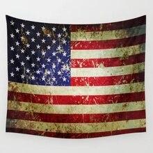 Grunge Vintage envejecido bandera americana tapiz de pared tapices colcha cortina artística de la pared manta mantel comodidad
