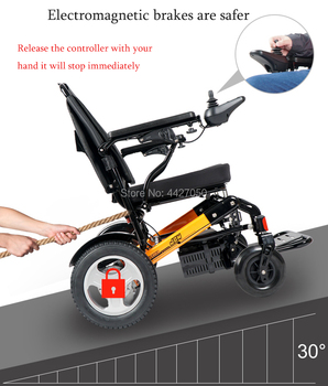 Big seat width 51cm foldable electric power  wheelchair for disabled