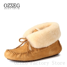 Designer Shoes Snow-Boots Ladies Footwear Australia Real-Leather Women Winter Luxury Brand