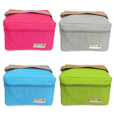 New Portable Insulated Lunch Storage Bag Box Picnic Carry Tote Tote Thermal