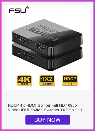 Ha9423285788c438ca237c11f2d497dce6 HDCP 4K HDMI Splitter Full HD 1080p Video HDMI Switch Switcher 1X2 Split 1 in 2 Out Amplifier Dual Display For HDTV DVD PS3 Xbox