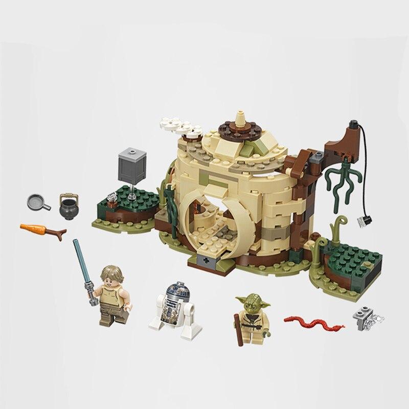 Bela 10904 Stern ziegel Wars Yoda der Hütte Luke Skywalker R2-D2 Gebäude Block 241 stücke Ziegel Spielzeug geschenke Kompatibel mit legoinglys