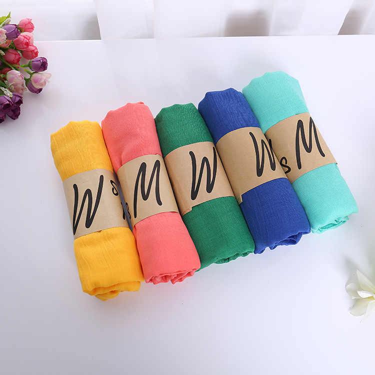 Novo lenço de linho de algodão cachecol feminino nacional vento cachecóis xale presentes hotspots de seda monocromática cachecóis feminino acessórios