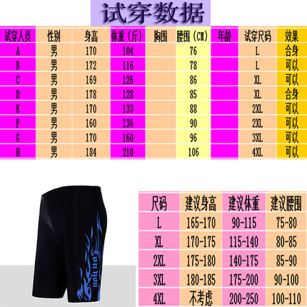 2019 New Style Fashion Men Long Swimming Trunks Boxer Cool Swimming Trunks Low-Rise Hot Springs Swimming Trunks Large Size