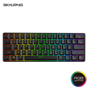 Skyloong Mini Portable 60% Mechanical Keyboard Wireless Bluetooth Gateron Mx RGB Backlight Gaming Keyboard GK61 SK61 For Desktop(China)