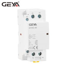 цена на Free Shipping GEYA 2P 40A 2NO or 2NC Household Modular AC Contactor DIN Rail Mounting AC220V 230V Automatic