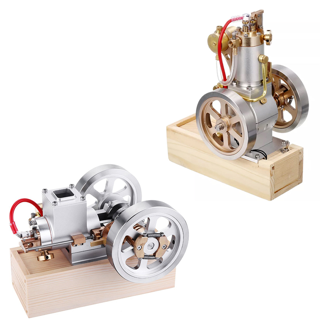 Metal Horizontal / Vertical Hit & Miss Complete Engine Model Gas Stirling Engine With Hand Start Device Combustion  Decoration