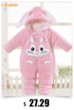 Ha942a294b9ce41a6a4ddde73298ef5abn Baby boy girl Clothes 2019 New born Winter Hooded Rompers Thick Cotton Outfit Newborn Jumpsuit Children Costume toddler romper