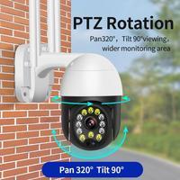 Telecamera Wifi Wireless ue/usa/regno unito/AU PTZ IP 1080P inclinazione telecamera di sicurezza esterna CCTV telecamere di sicurezza IR sorveglianza esterna domestica