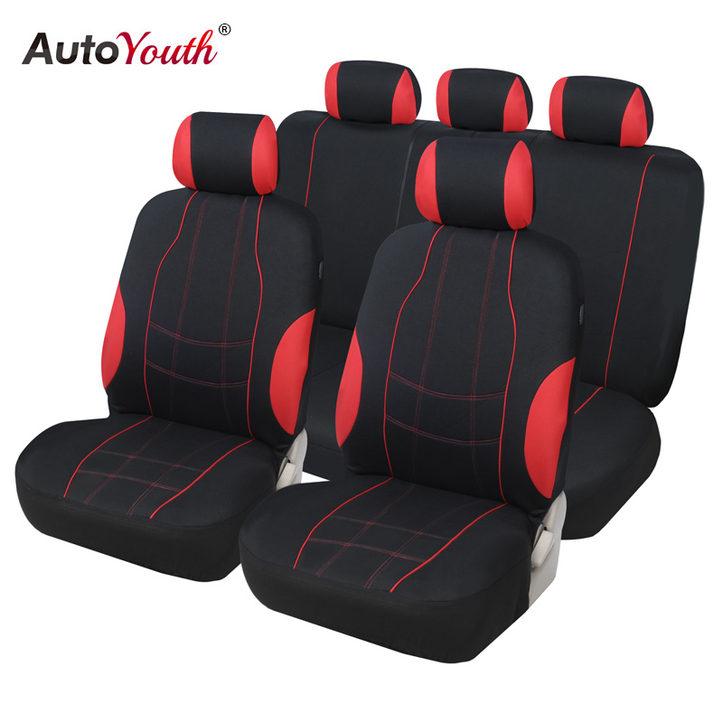 AUTOYOUTH Car Seat Covers 9PCS Full Set Universal Fit Car Accessories Auto Seat Protectors Car Styling For Lada Volkswagen Ford|Automobiles Seat Covers| |  - title=
