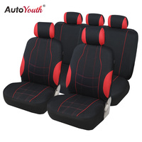AUTOYOUTH Car Seat Covers 9PCS Full Set Universal Fit Car Accessories Auto Seat Protectors Car Styling For Lada Volkswagen Ford|Automobiles Seat Covers| |  -