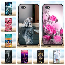For Xiaomi Redmi 6A Phone Case Ultra-thin Soft TPU Silicone Cover Flowers Pattern Funda