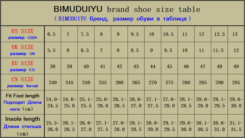 修改脚长后的常用男鞋标准尺寸表900-190820